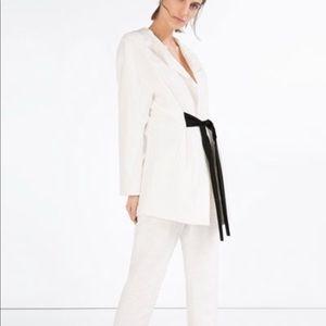 Zara Jacquard pants And Blazer set